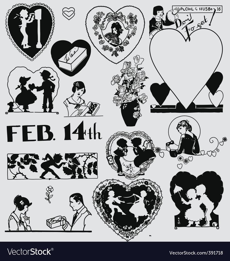 Valentines sketch vector | Price: 1 Credit (USD $1)
