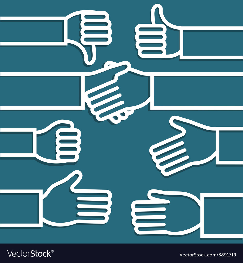 Abstract hands vector