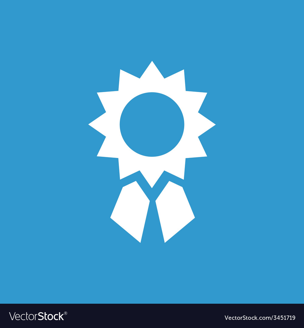 Achievement icon white on the blue background vector | Price: 1 Credit (USD $1)