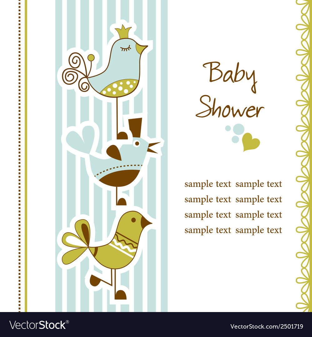 Birds baby shower vector | Price: 1 Credit (USD $1)