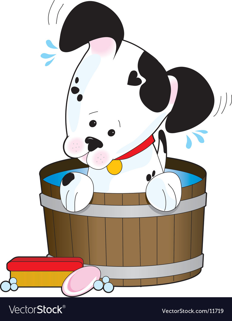 Doggie bath vector | Price: 3 Credit (USD $3)