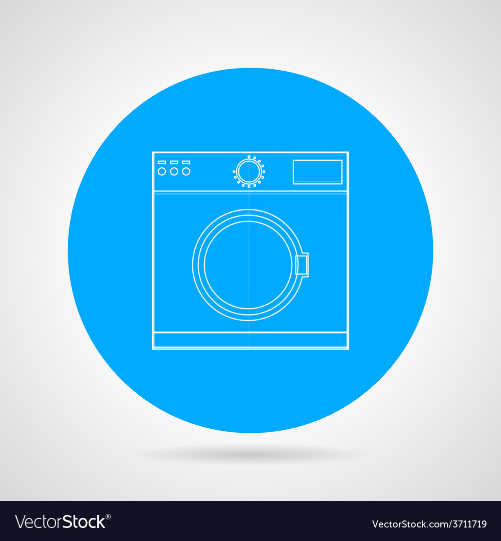 Flat icon for washing machine vector | Price: 1 Credit (USD $1)