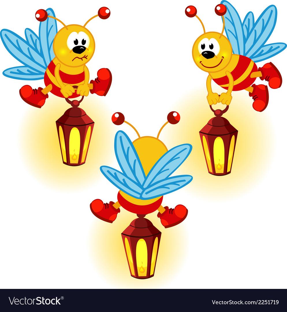 Glowworm with lantern vector | Price: 1 Credit (USD $1)