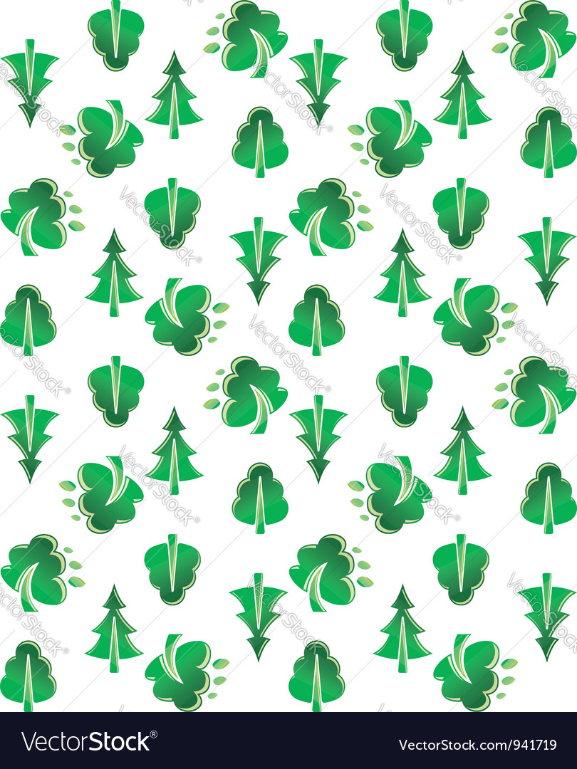 Green tree seamless background vector | Price: 1 Credit (USD $1)