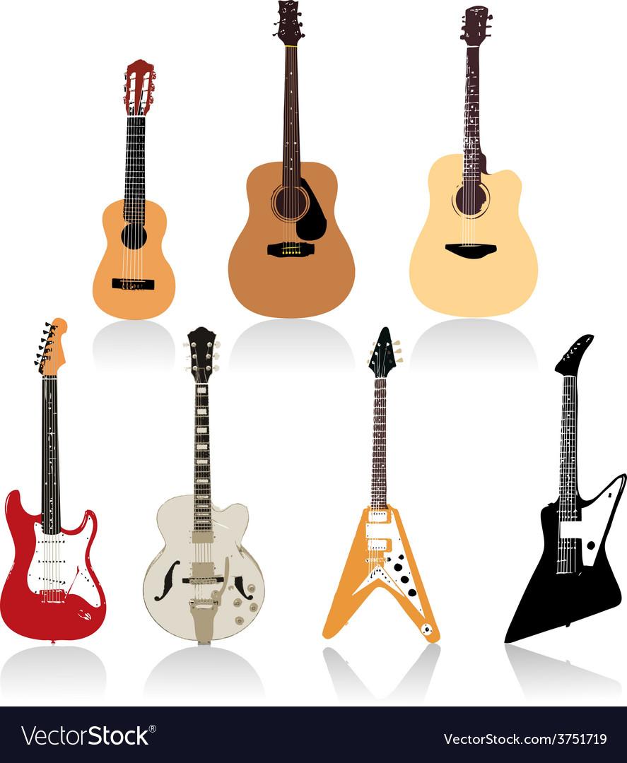 Guitar set art vector | Price: 1 Credit (USD $1)