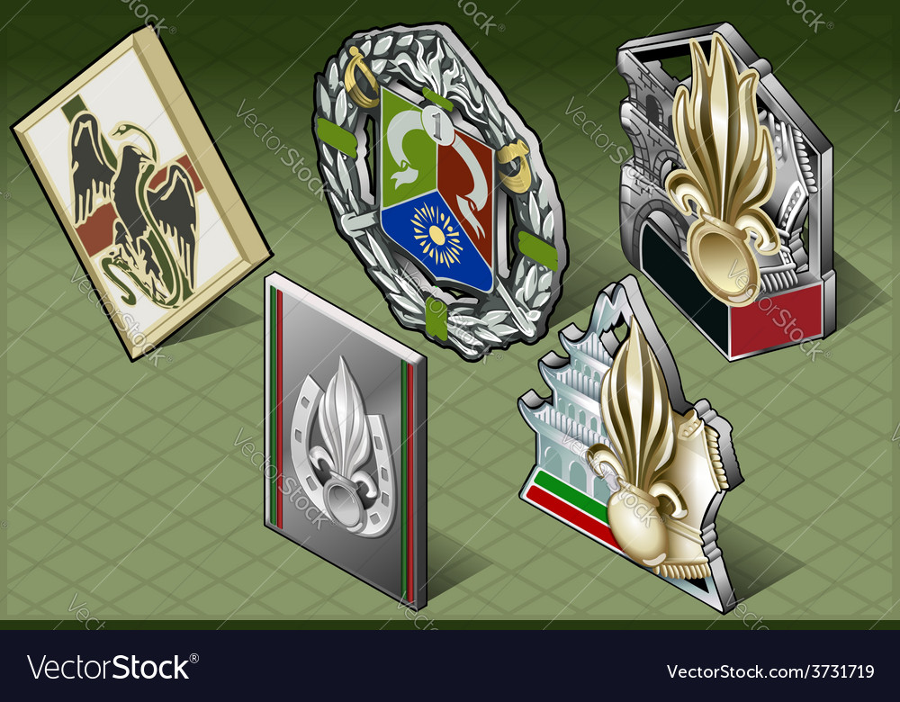 Isometric various medals vector | Price: 3 Credit (USD $3)