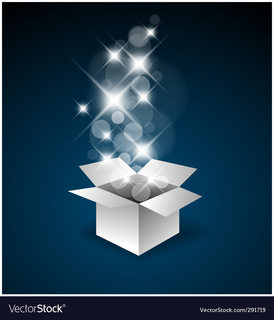 Magic gift box vector | Price: 1 Credit (USD $1)