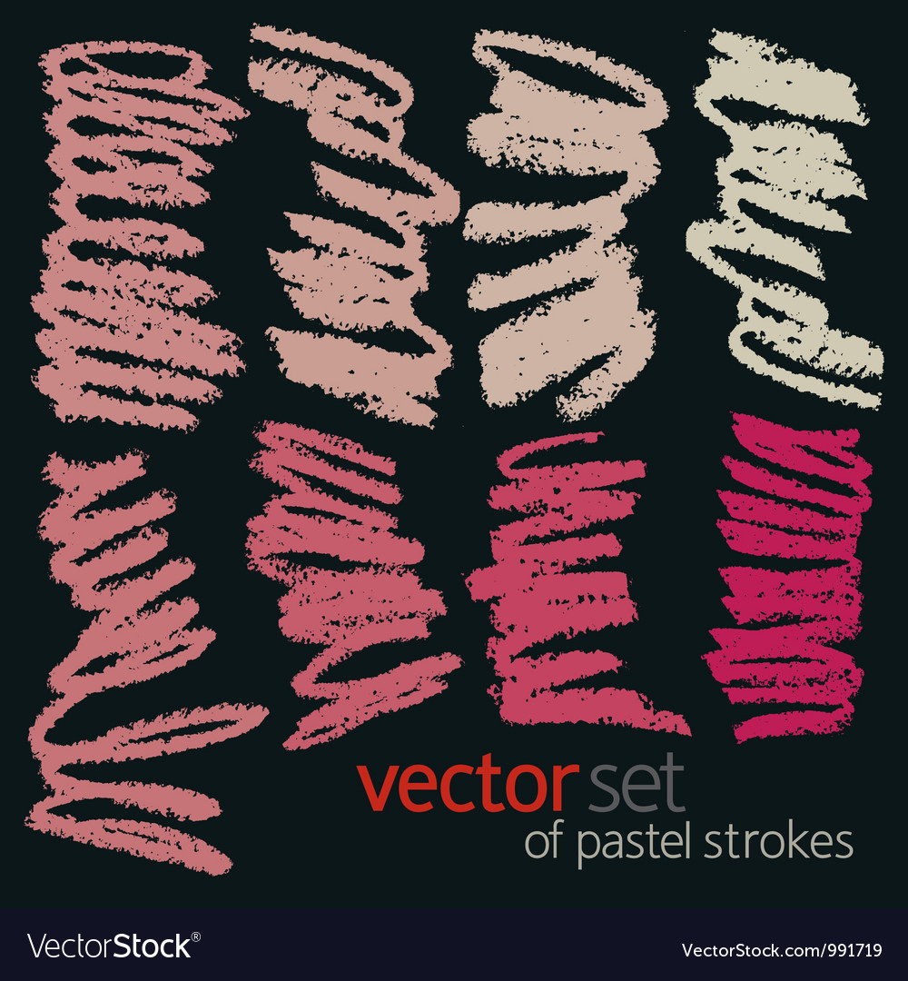 Pastel strokes set 3 vector | Price: 1 Credit (USD $1)
