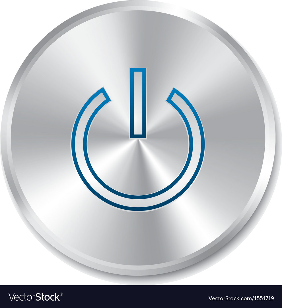 Power on button turn on round sticker vector | Price: 1 Credit (USD $1)
