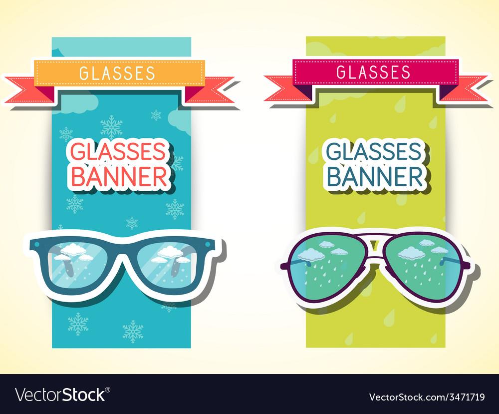 Retro glasses background concept vector | Price: 1 Credit (USD $1)