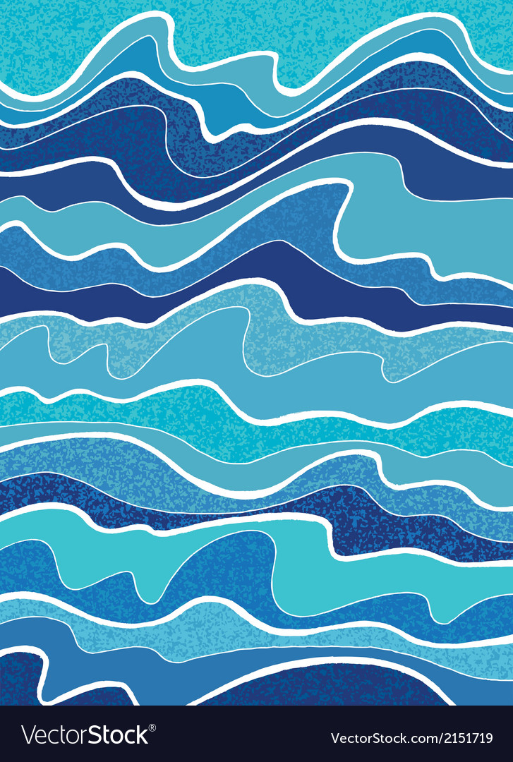 Sea waves vector | Price: 1 Credit (USD $1)