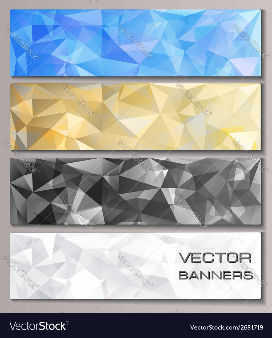 Set of banners with geometric pattern vector | Price: 1 Credit (USD $1)