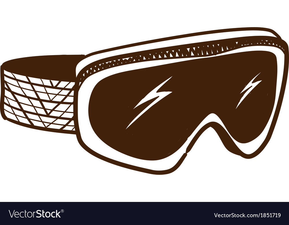 Ski glasses goggles isolated on white vector | Price: 1 Credit (USD $1)