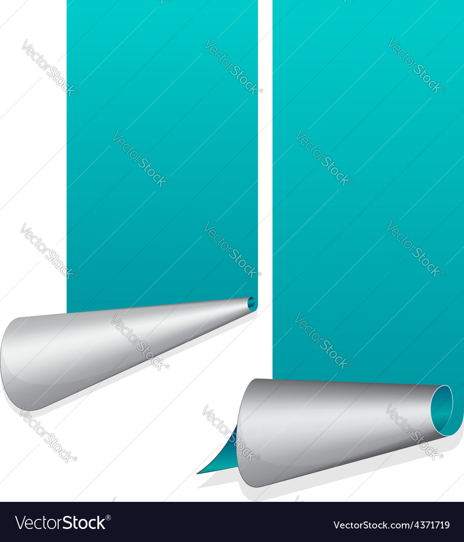 Turquoise sticker with curled up edge vector | Price: 1 Credit (USD $1)