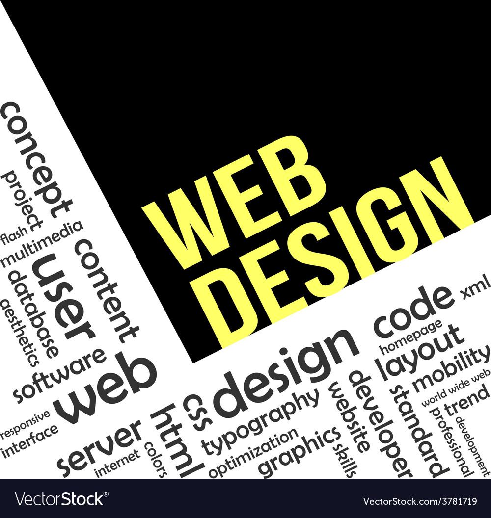 Word cloud web design vector | Price: 1 Credit (USD $1)