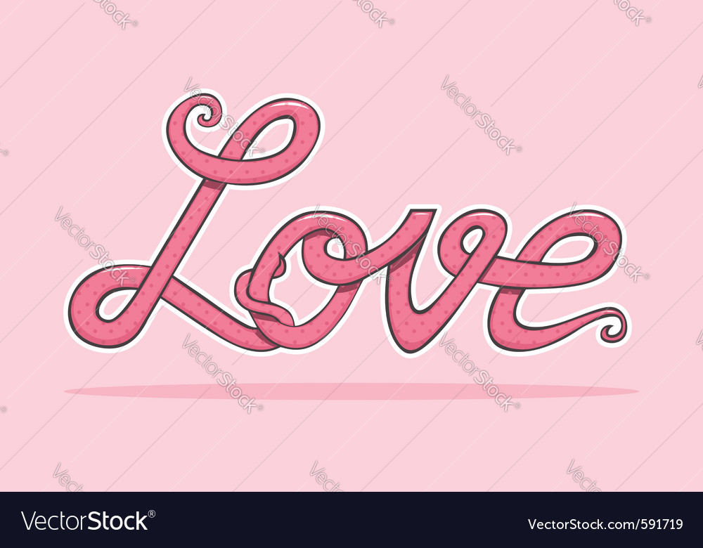 Word love vector | Price: 3 Credit (USD $3)