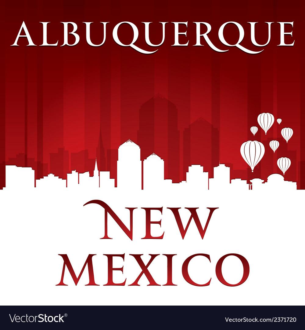 Albuquerque new mexico city skyline silhouette vector | Price: 1 Credit (USD $1)