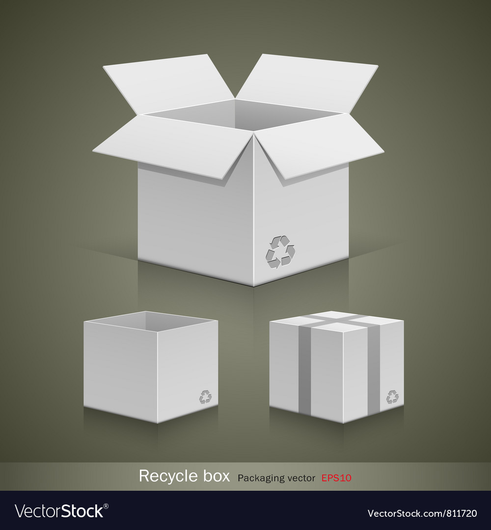 Collection recyele white box vector | Price: 1 Credit (USD $1)