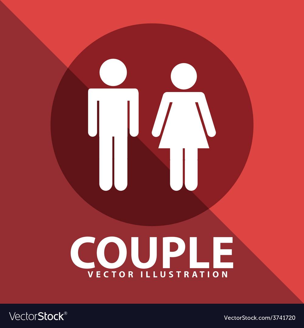 Couple silhouette vector   Price: 1 Credit (USD $1)