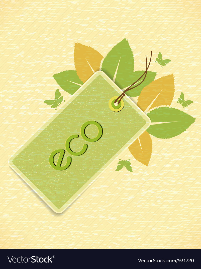 Eco friendly design vector | Price: 1 Credit (USD $1)