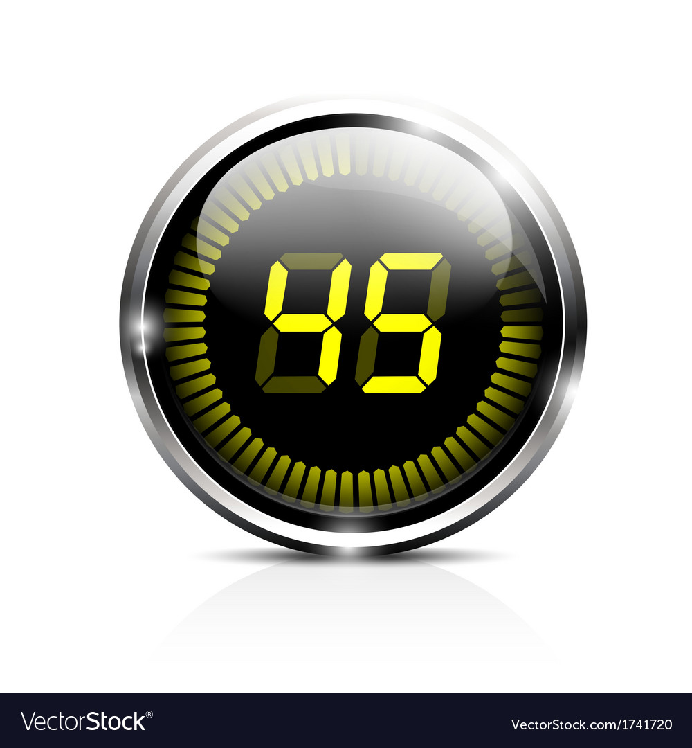 Electronic timer 45 seconds vector | Price: 1 Credit (USD $1)
