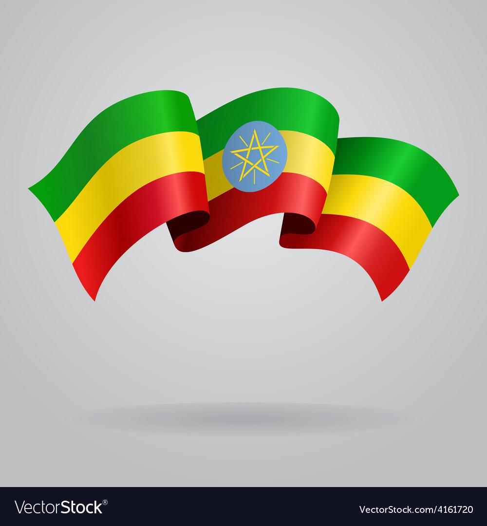 Ethiopian waving flag vector | Price: 3 Credit (USD $3)