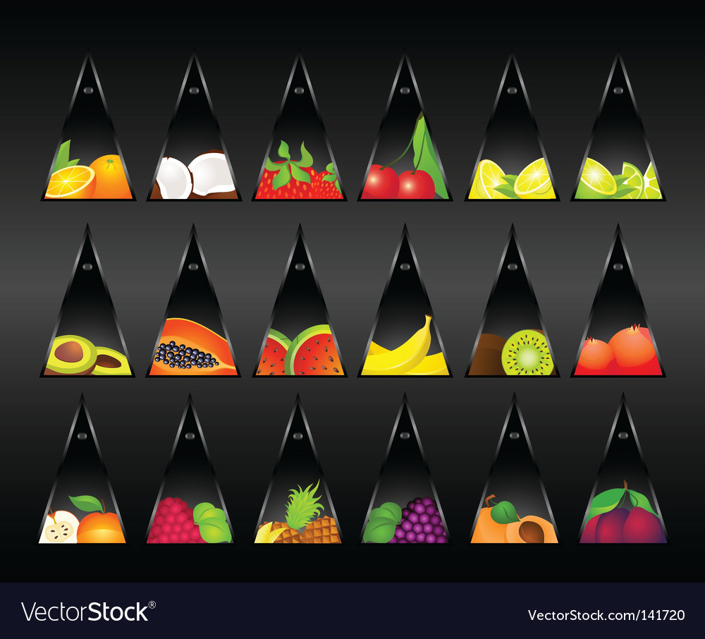 Fruit tags vector | Price: 1 Credit (USD $1)