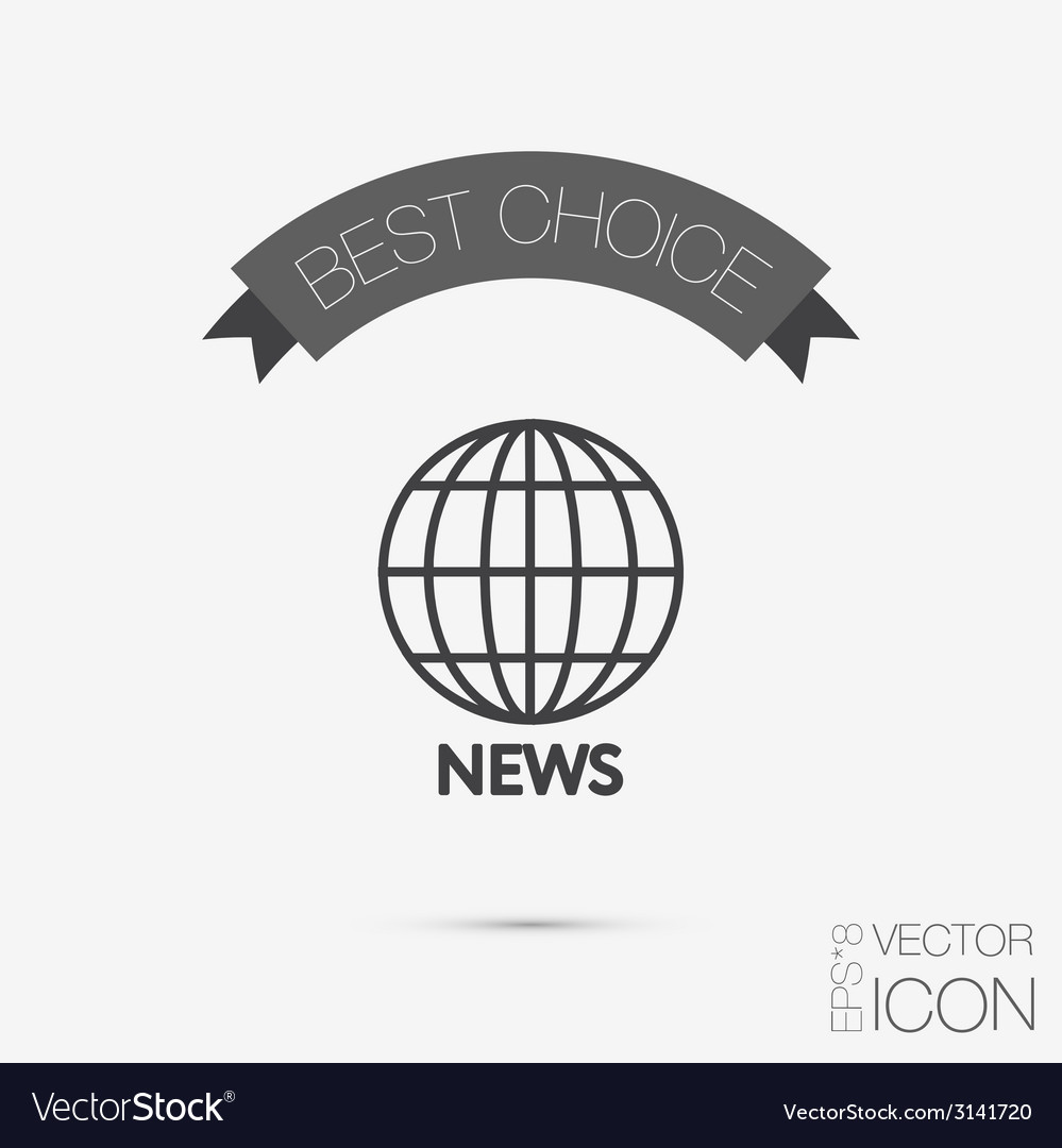 Globe symbol news symbol news icon globe planet vector | Price: 1 Credit (USD $1)