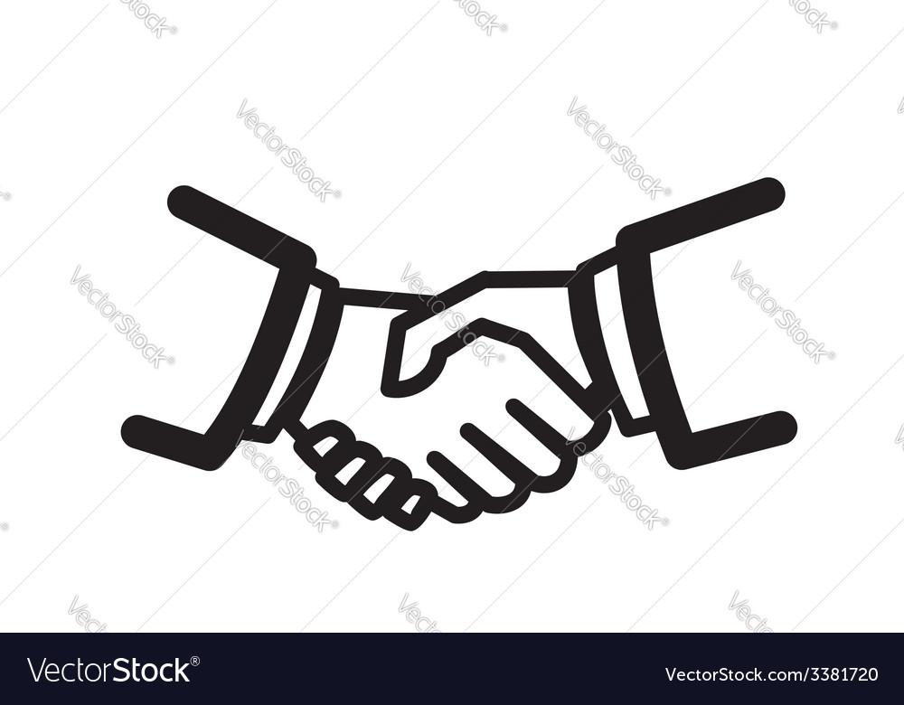 Handshake icon vector | Price: 1 Credit (USD $1)