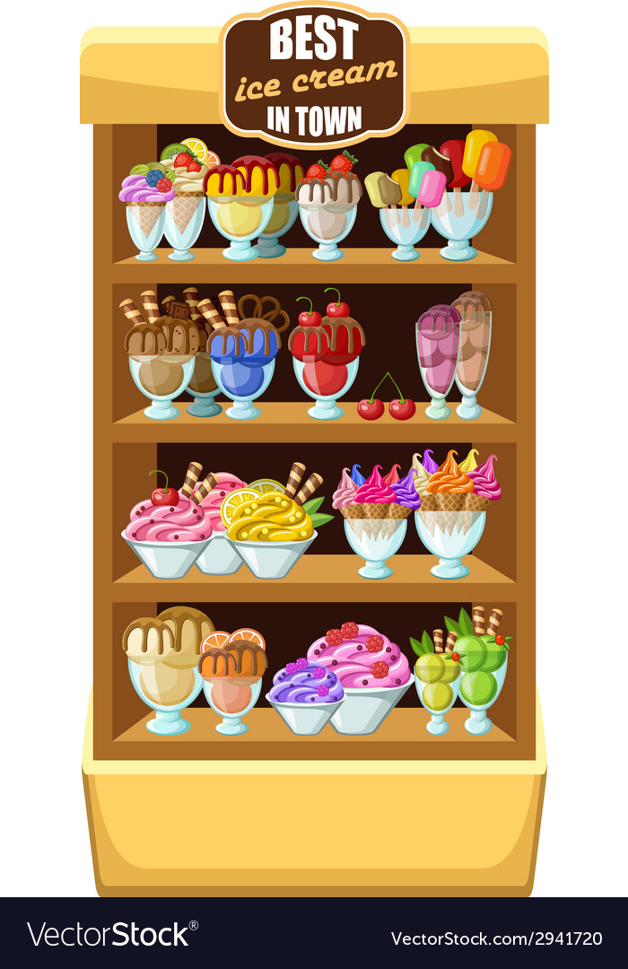 Ice cream shop vector | Price: 1 Credit (USD $1)