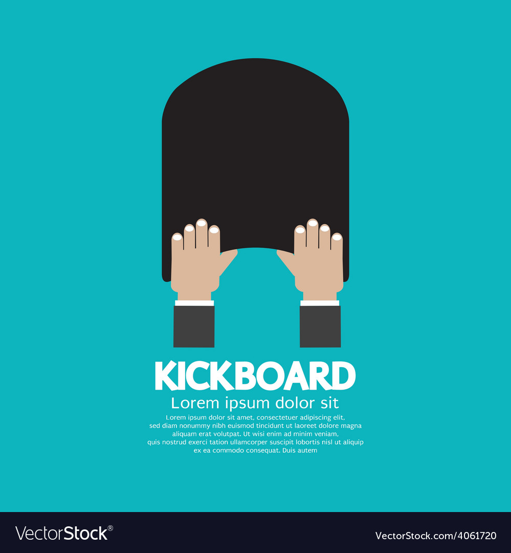 Kick board swimming support equipment vector | Price: 1 Credit (USD $1)