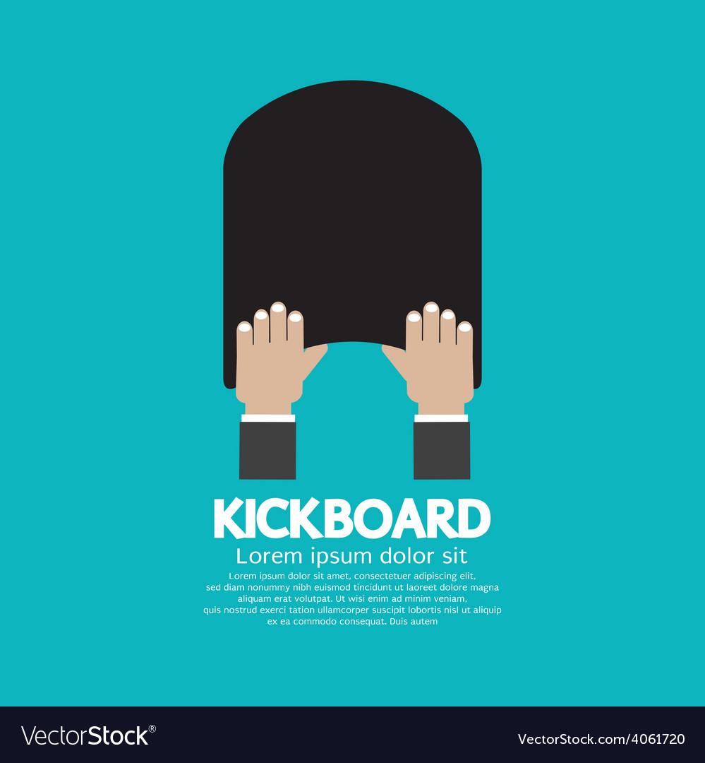 Kick board swimming support equipment vector   Price: 1 Credit (USD $1)