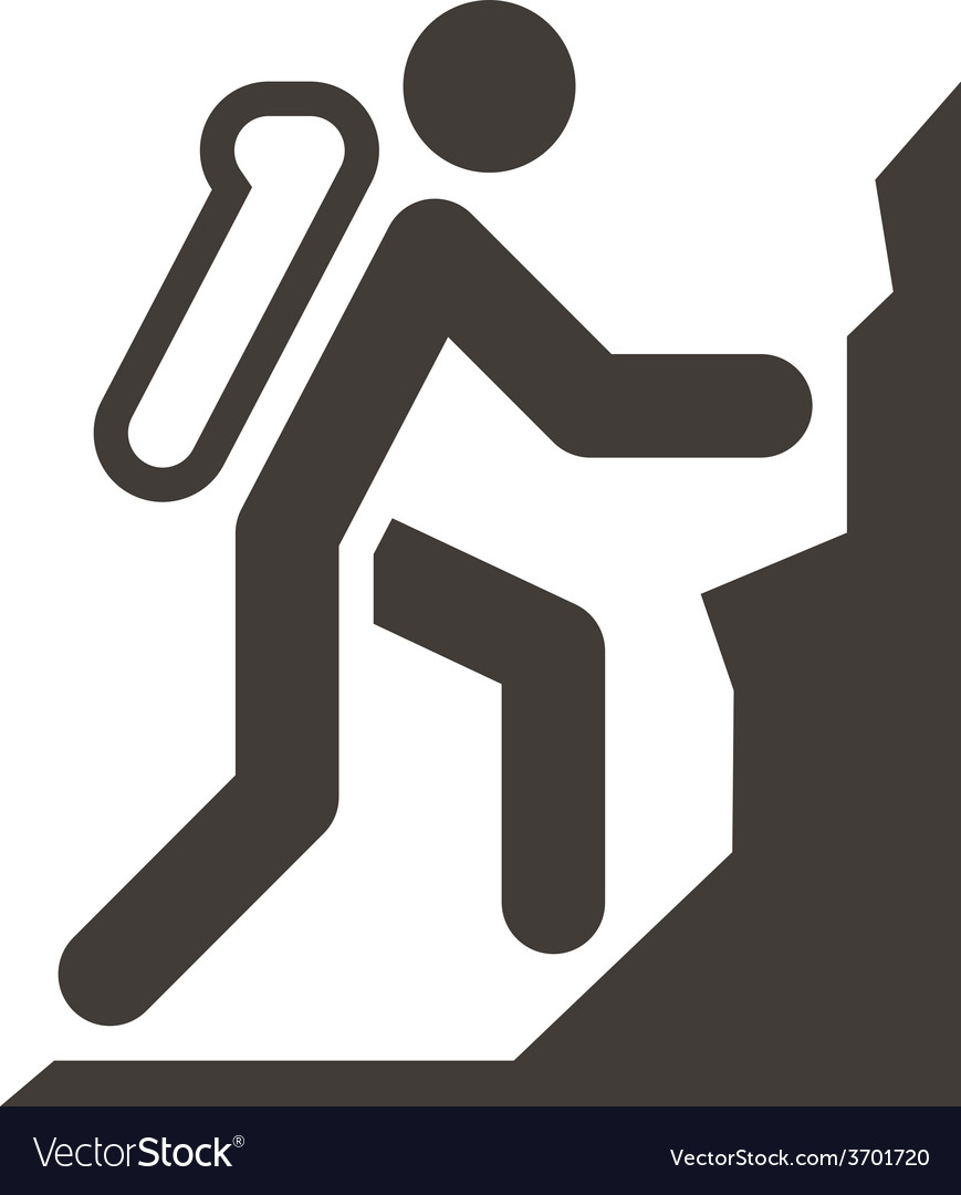 Mountaineering icon vector   Price: 1 Credit (USD $1)