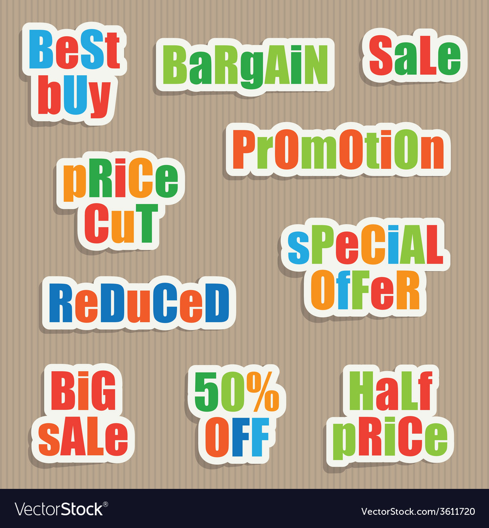 Sale stickers vector | Price: 1 Credit (USD $1)
