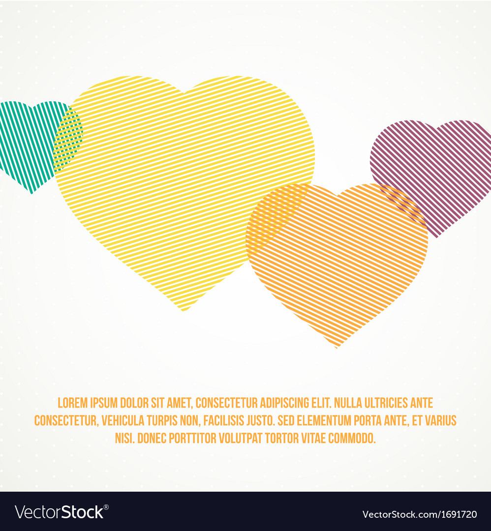 Striped heart vector | Price: 1 Credit (USD $1)