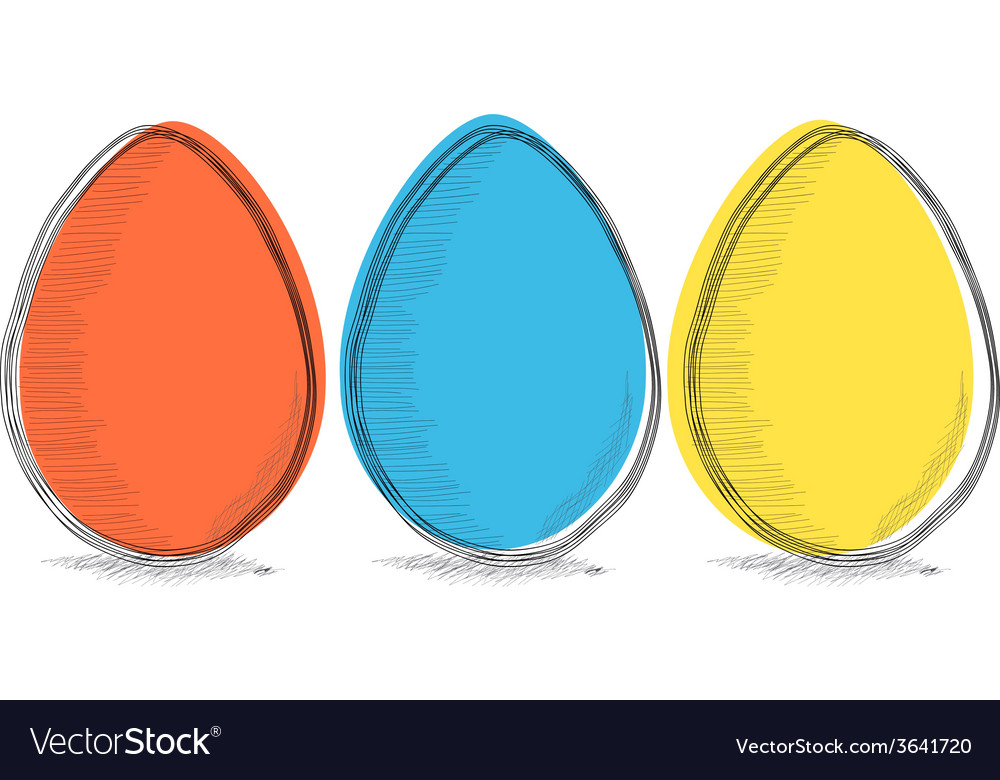 Three colors eggs vector | Price: 1 Credit (USD $1)