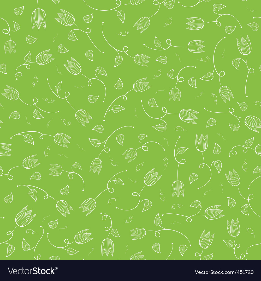 Tulip pattern vector | Price: 1 Credit (USD $1)