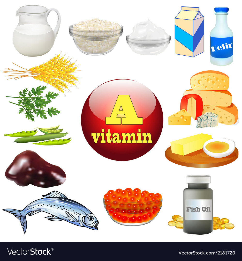 Vitamin a and plant vector | Price: 1 Credit (USD $1)