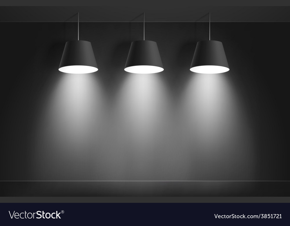Black ceiling lamps vector | Price: 3 Credit (USD $3)