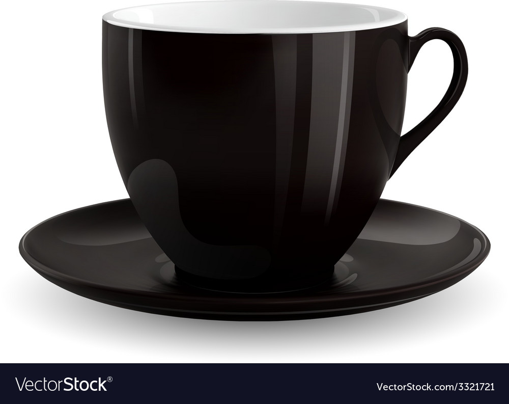 Black cup vector | Price: 3 Credit (USD $3)