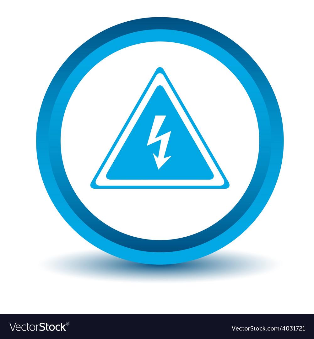 Blue voltage icon vector | Price: 1 Credit (USD $1)