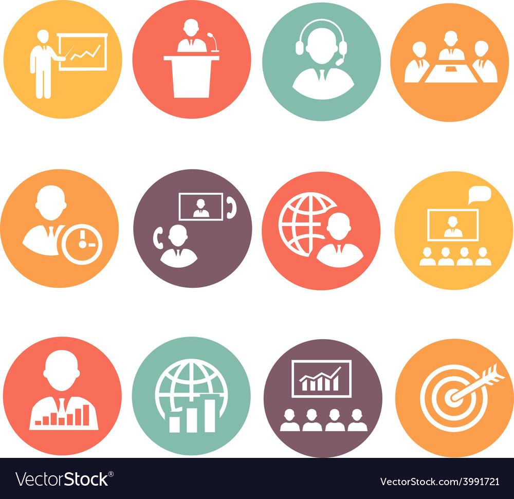 Business people meeting online and offline vector | Price: 1 Credit (USD $1)