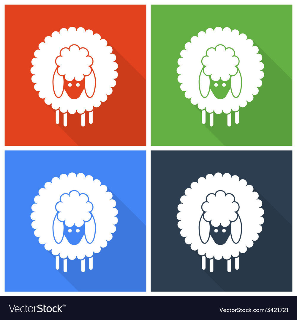 Christmas sheep icons vector | Price: 1 Credit (USD $1)