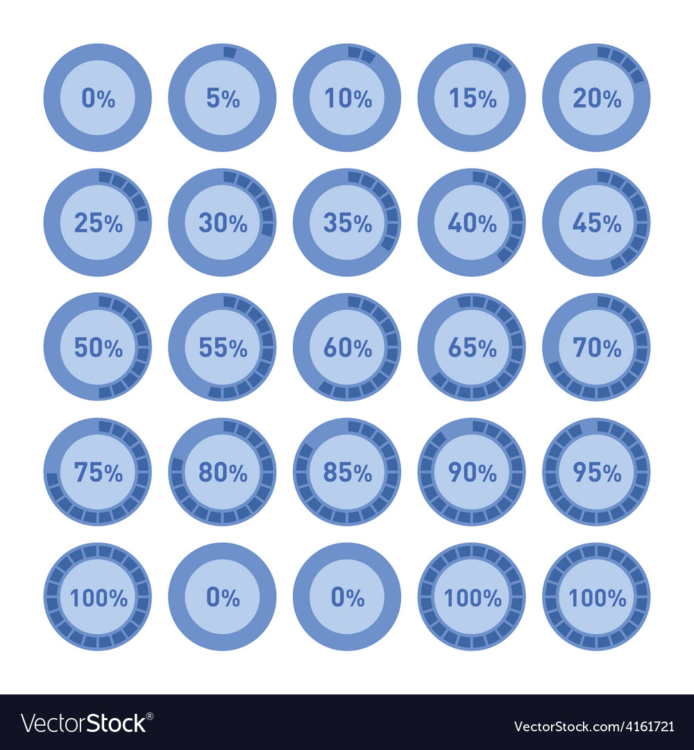 Circle diagram pie charts infographic elements vector