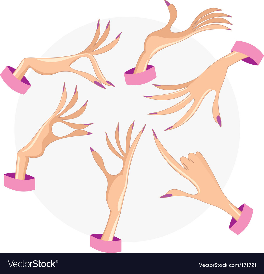Female hands vector | Price: 1 Credit (USD $1)