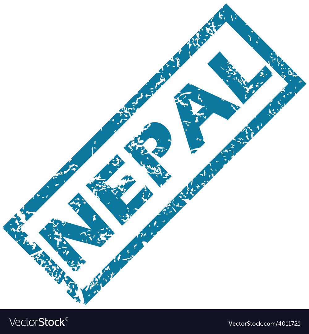 Nepal rubber stamp vector | Price: 1 Credit (USD $1)