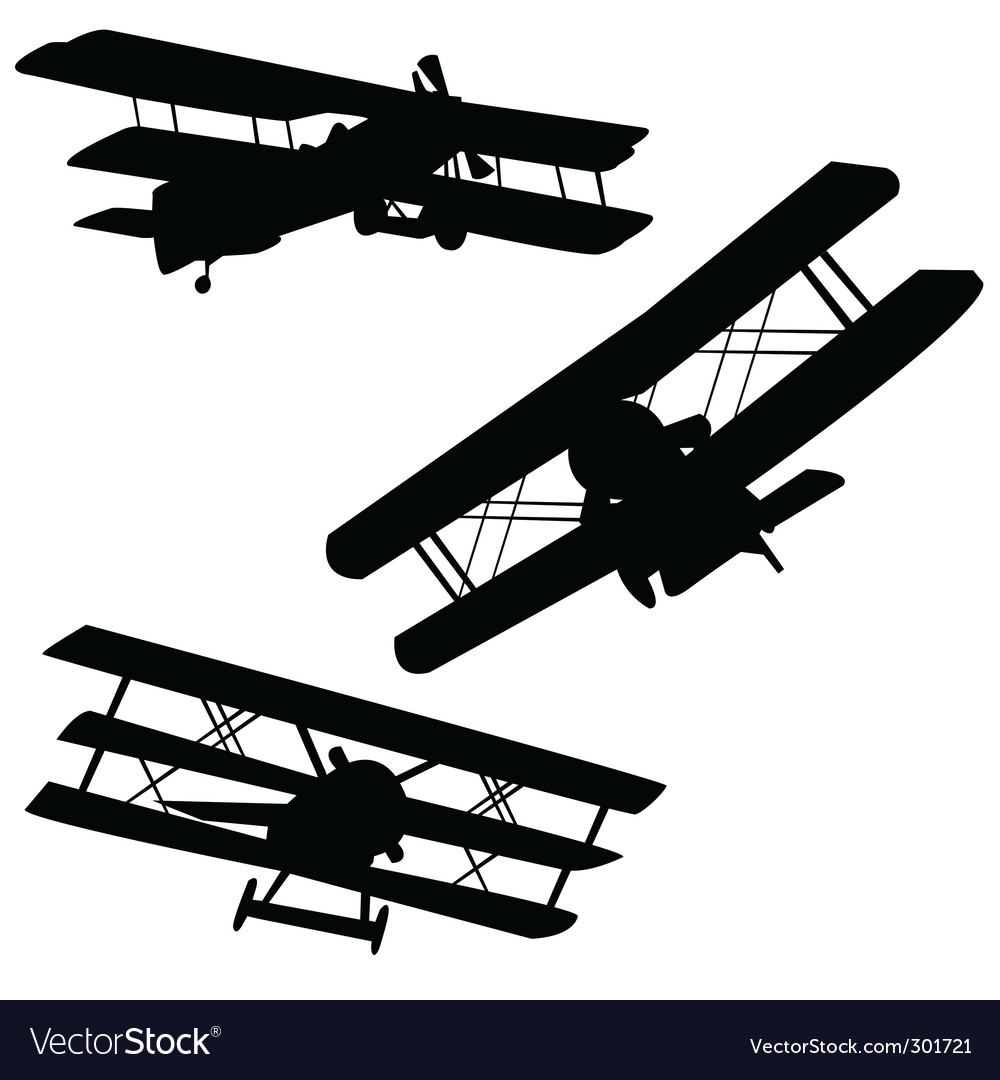 Old airplanes vector | Price: 1 Credit (USD $1)