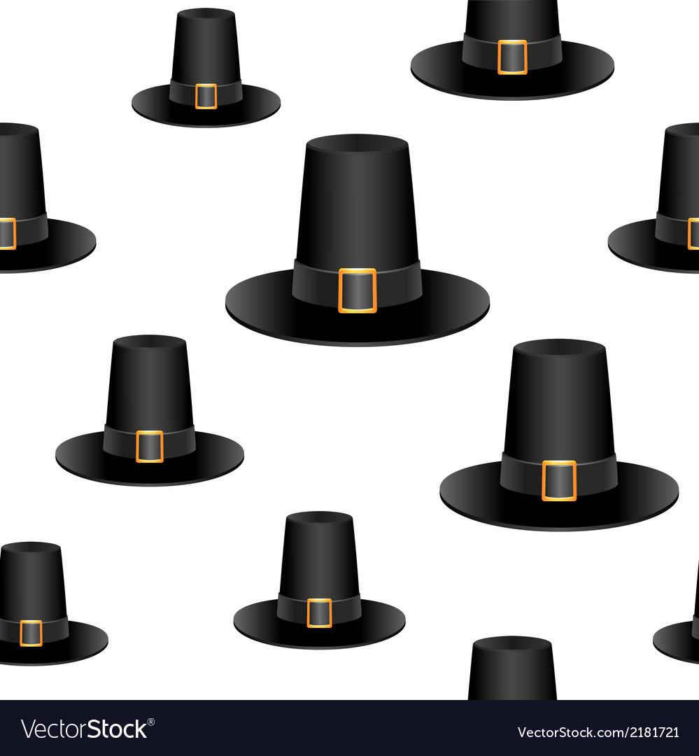 Pilgrim hat background vector | Price: 1 Credit (USD $1)