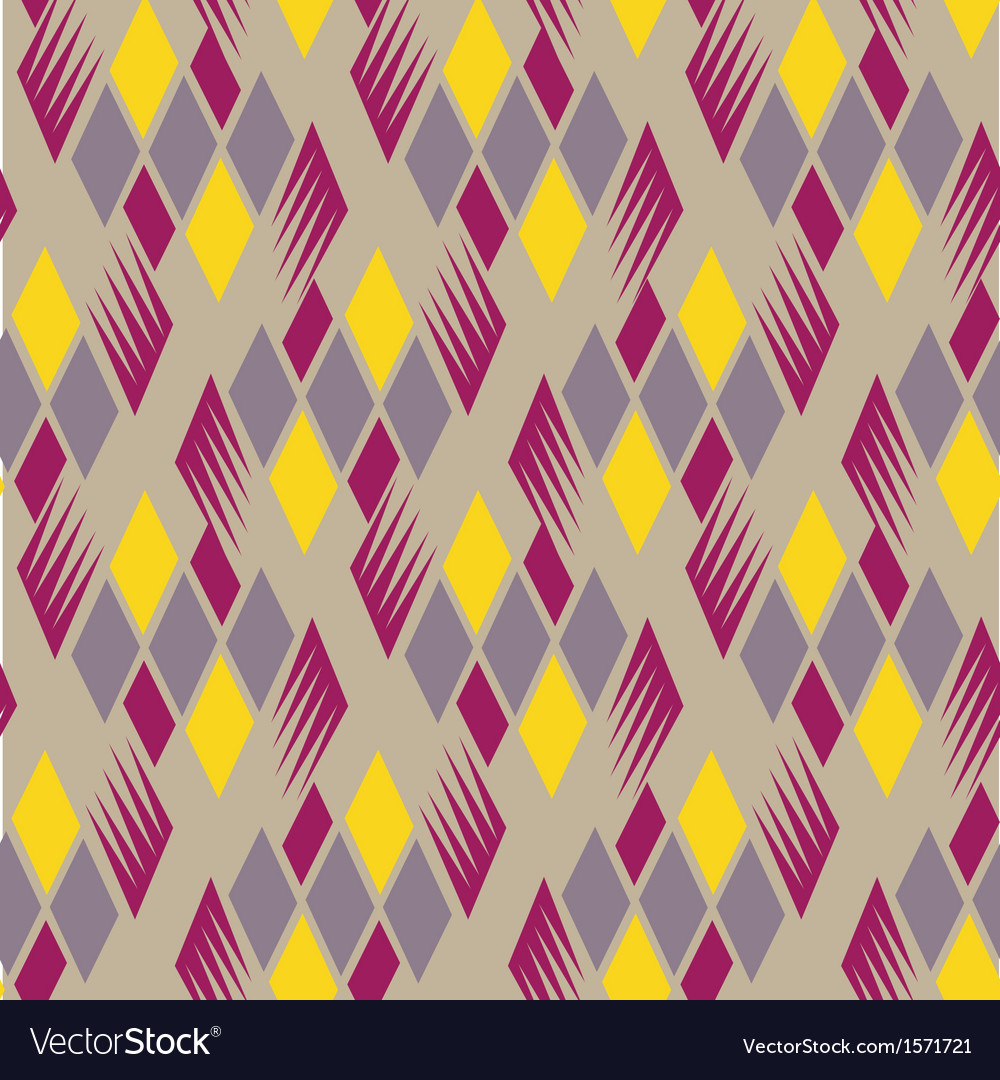 Retro diamond repeat pattern 4 vector | Price: 1 Credit (USD $1)