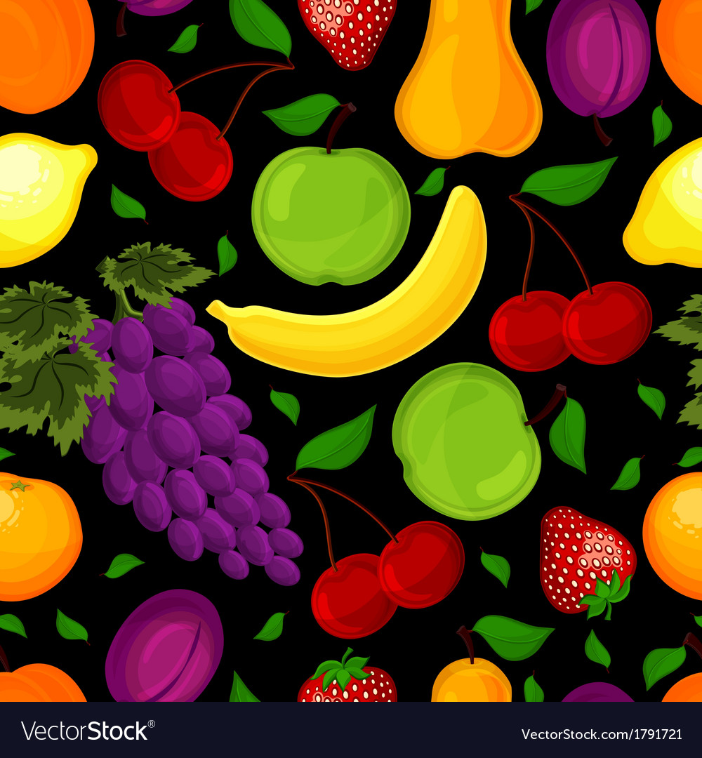 Seamless pattern for a healthy lifestyle vector | Price: 1 Credit (USD $1)